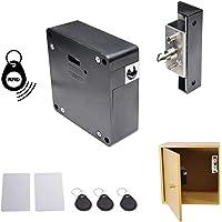 Cinnyi Cerradura el/éctrica DC 12V Armario electromagn/ético Acero para armarios Armarios de cajones Negro