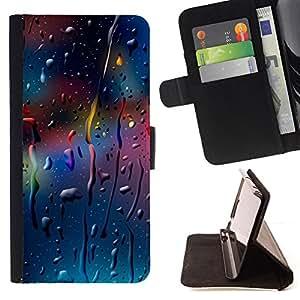BullDog Case - FOR/Apple Iphone 5C / - / COLOR DROPS /- Monedero de cuero de la PU Llevar cubierta de la caja con el ID Credit Card Slots Flip funda de cuer