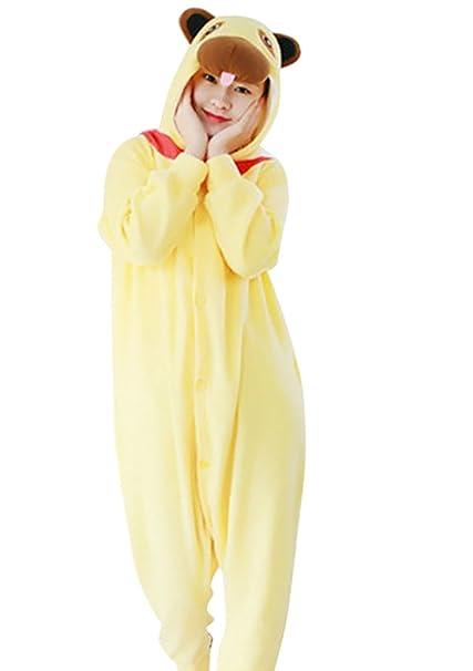 MissFox Disfraces Cosplay de Animales Pijamas Enteros para Adultos Kigurumi Disfraz Pijama Adulto Hombre Mujer Kigurumis