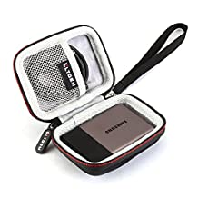 LTGEM EVA Hard Case Protective Carry Bag Cover for Samsung T3 Portable 250GB 500GB 1TB 2TB SSD USB 3.0 External Solid State Drives Shockproof Storage Travel Bag-Black