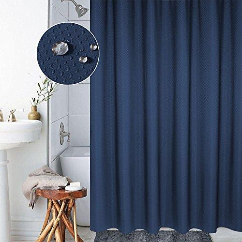 ttice Fabric Shower Curtain Mildew Resistant Waterproof Standard Shower Curtain for Bathroom, 72x80 Inch, Navy Blue ()