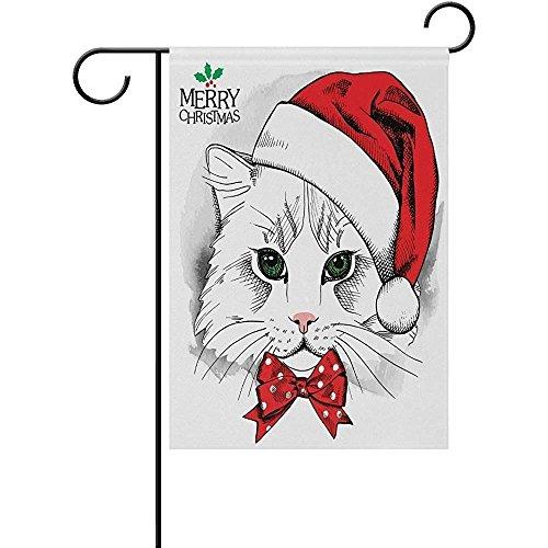 Merry Christmas Hat Cute Cartoon Head Garden flags Banner 12