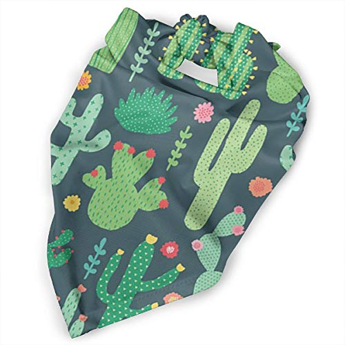 Pet Scarf Dog Bandana Bibs Triangle Head Scarfs Cactus Motif Accessories for Cats Baby -