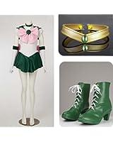 Super Sailor Moon Sailor Jupiter Kino Makoto Costumes Set for Cosplay
