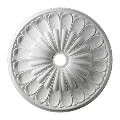 "ELK Lighting M1009WH Melon Reed Ceiling Medallion 32"" in White"