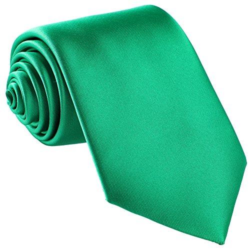 Fortunatever St. Patrick's Day's Men's Handmade Tie,Solid Necktie+Gift Box ()