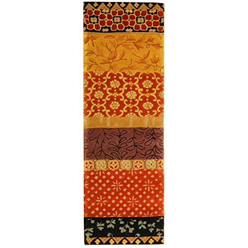 Safavieh Rodeo Drive Collection RD622K Handmade Rust and Gold Wool Runner (2'6