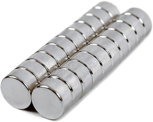 40 x Mini Neodym-Magnete für Magnettafel Kühlschrank 6x3mm extra stark N45