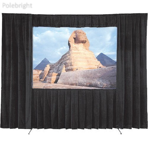 Fast-Fold Velour Drapery Kit for Deluxe Frames (12 x 12') - Polebright Updated 12' Fast Fold Drapery