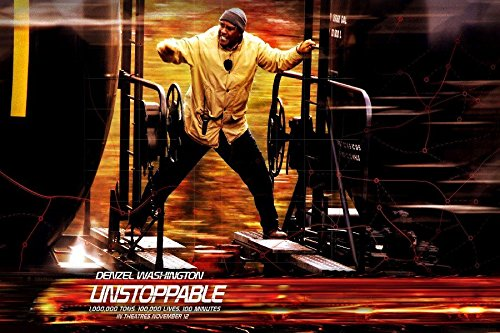 (Poster Denzel Washington American Action Film Train Unstoppable Movie Film Poster Fabric Silk Poster Print 119896 )