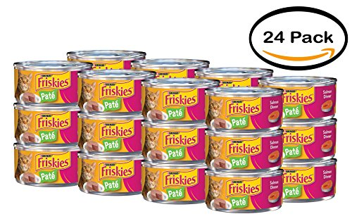 Cheap PACK OF 24 – Purina Friskies Classic Pate Salmon Dinner Cat Food 5.5 oz. Can