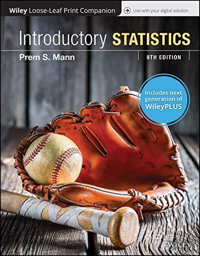 Introductory Statistics, 9e WileyPLUS (next generation) + Loose-leaf -  Prem S. Mann, 9th Edition, Paperback