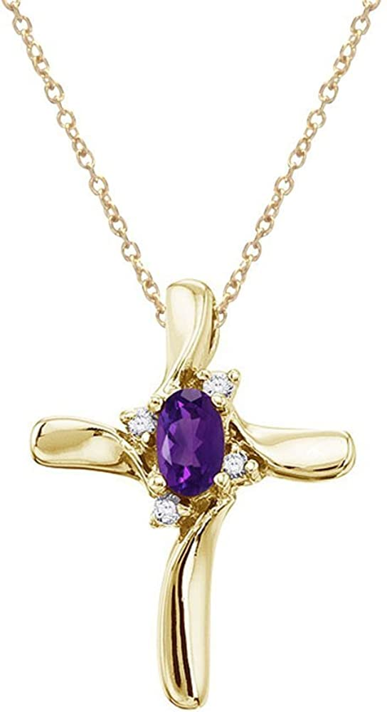 FB Jewels Solid 10K Gold Plated Sterling Silver Small Cubic Zirconia CZ Crucifix Pendant