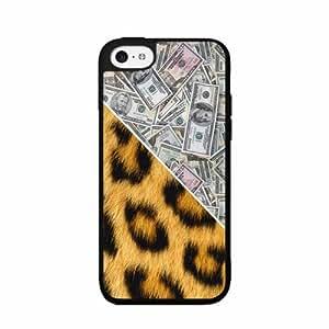 Money and Cheetah Print - Phone Case Back Cover (iPhone 5c Black - Plastic)