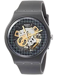 Swatch Originals Greybolino Two Tone Dial Silicone Strap Unisex Watch SUOM109