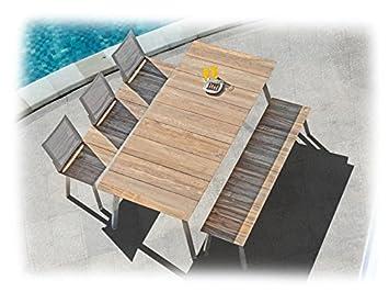 Zebra HUGO salon de jardin 6 pièces avec table pliante en ...