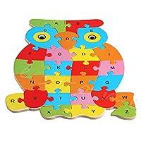 Stebcece Wooden Blocks Animals Kid Children Educational Toy Alphabet Puzzle Jigsaw