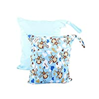 Just us Baby Waterproof Wet and Dry Cloth Diaper Bags Washable Reusable Wet B...