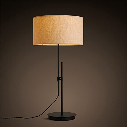 Simple Lino Tela Lámparas de mesa,Moderno Simple Elegante Creativo ...