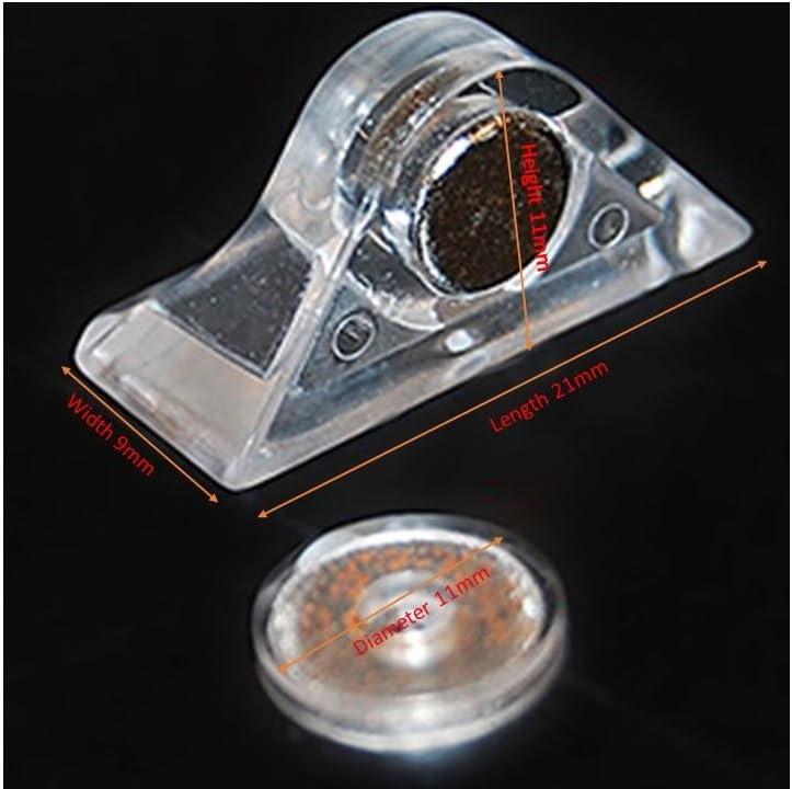 Petite Loquet magn/étique 2/pi/èces Plastique Acrylique Transparent en Perspex Transparent