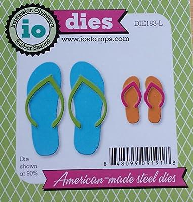 Beach Flip Flops Set American made Steel Dies Impression Obsession DIE183-L New