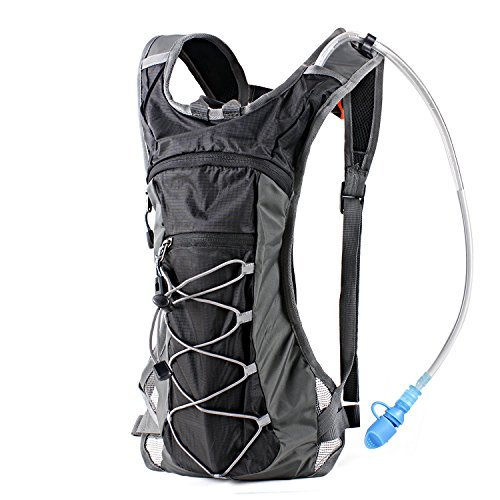 Hydration Pack Backpack with 70 oz 2L Water Bladder for Running Hiking Cycling Climbing Camping Racing (Gray) (Hundred Gallon Propane Tank compare prices)