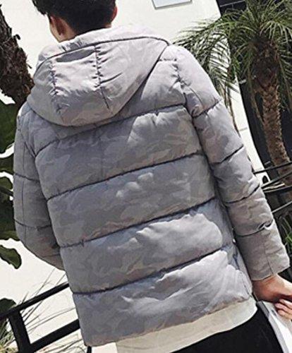 Imbottito Inverno Di Con Cappuccio Addensare Cotone Oggi Giacca Basso Grigio uk Uomini Degli Verso Il xOTx4fZ