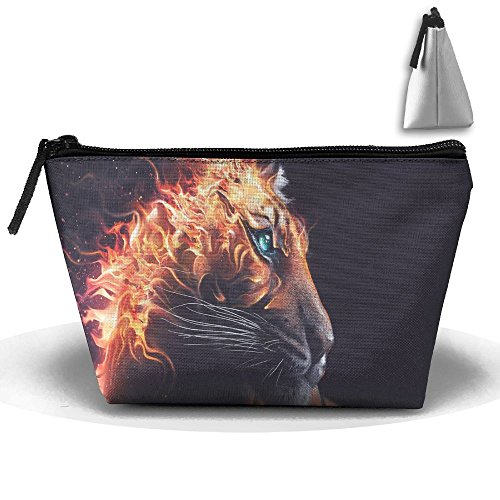 Fengyaojianzhu Tiger Fire Portable Make-up Receive Bag Storage Capacity Bags For Travel With Hanging Zipper
