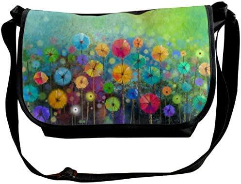 メッセンジャーバッグ ショルダーバッグ 自然の花 斜めがけ ワンショルダー バック カバン キャンバス 大容量 超軽量 学校 旅行 メンズ レディース 正規品