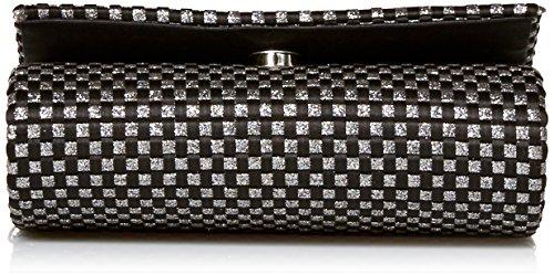 Shoulder Bag Black Katie Evening Glitter Clutch Satin Jessica McClintock Woven pz04AUqw78