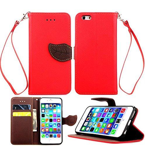 iPhone 6 Hülle,Apple iPhone 6 Hülle (4.7 Zoll) Lifetrut®[Rote] Schutzhülle Flip PU Ledertasche Ständer Schutzhülle Tasche Hülle Case Cover mit Kreditkartensteckplätze für Apple iPhone 6 (4.7 Zoll)