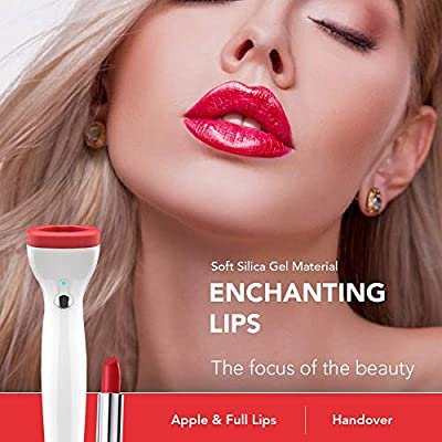 Electric Lip Plumper Device Automatic Lip Plumping Fuller Lips, Rechargeable Lip Enhancer Tool with 3 Suction Power For Women Girl Girlfriend Gifts