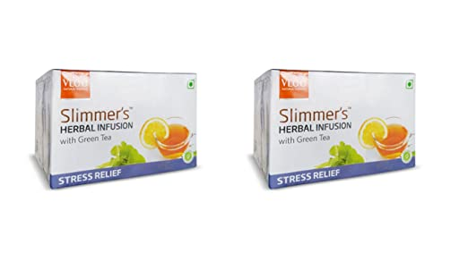 vlcc Slimmer de infusión con té verde Alivio del estrés 25 ...