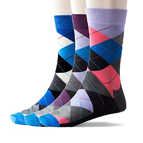 Top Drawer Classic Patterned Men's Dress Socks (3-Pack) (M, Boldly ()