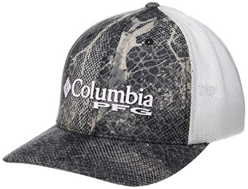 (Columbia Unisex PFG Camo Mesh Ball Cap, Black Realtree Mako, Large/X-Large)