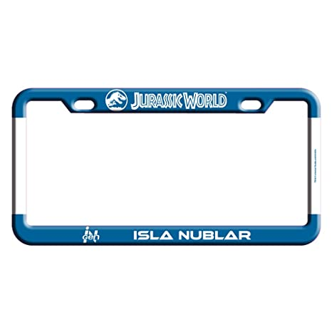 Beautiful Factory Entertainment Jurassic World   Isla Nublar License Plate Frame