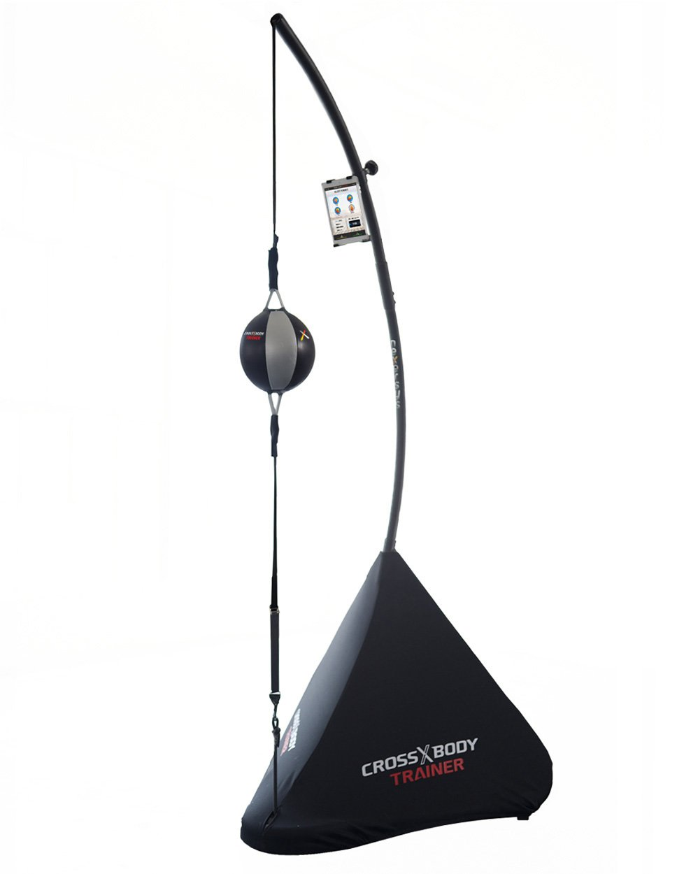 Nexersys Cross Body Trainer with Interactive Double End Bag for Boxing & MMA, Large, Matte Black