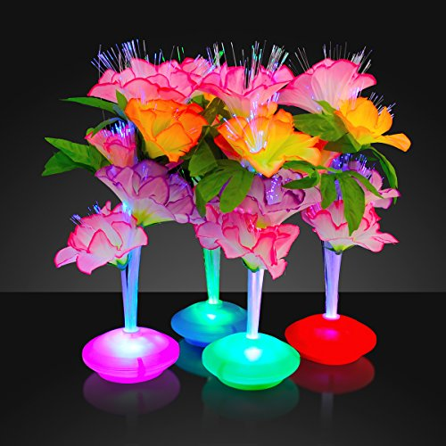 Fiber Optic LED Flower Centerpieces (Set of -