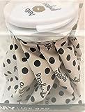 Adorable Hello Gorgeous Theme REUSABLE ICE BAG/PACK, Black/White Polka Dot, 4.5''D x 4.5''H