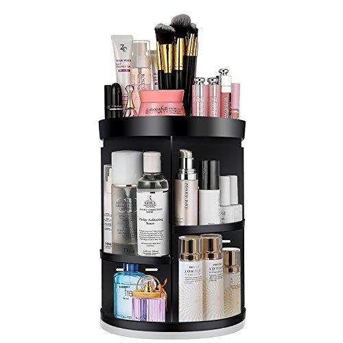 KABB Makeup Organizer, 360-Degree Rotating Adjustable 7 Laye