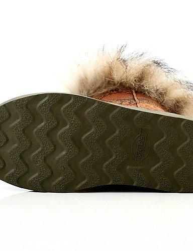 Redonda Zapatos Tacón U Botas 5 Semicuero Punta Casual Uk5 Cn38 Plano De Uk3 Mujer Comfort Cn34 Xzz Eu38 Gray us5 5 Gray Vestido Gris Nieve Negro Eu35 Marrón us7 zqn1dtwngx