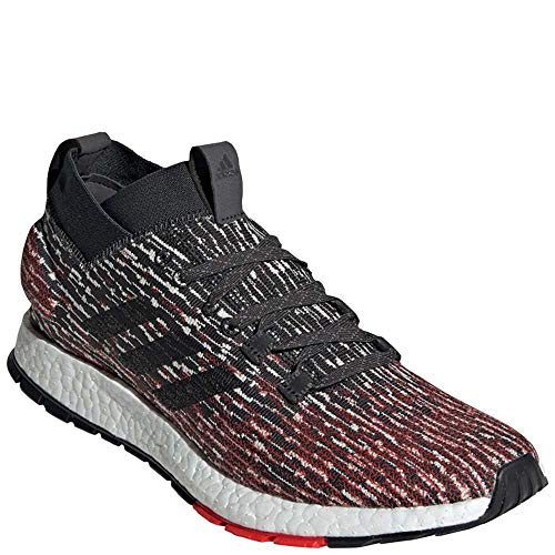 adidas Men's Pureboost RBL, Carbon/Black/Active red, 9.5 M US