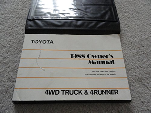 1988 Toyota 4WD Truck and 4Runner Owners Manual