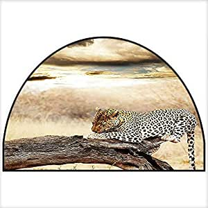 Amazon Com Maples Rugs Kitchen Rug Leopard Resting Under
