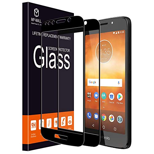[2-Pack] MP-MALL Screen Protector for Moto E5 Play/Moto E5 Cruise, Motorola E5 Play [Tempered Glass][Full Cover] with Lifetime Replacement Warranty