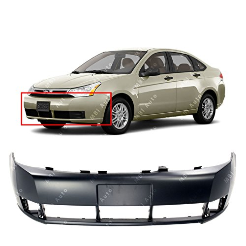 MBI AUTO - Primered, Front Bumper Cover Replacement for 2008 2009 2010 2011 Ford Focus 08 09 10 11, FO1000634 ()