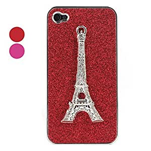 xiao Eiffel Tower Pattern Hard Case for iPhone 4 and 4S(Assorted Colors) , Red