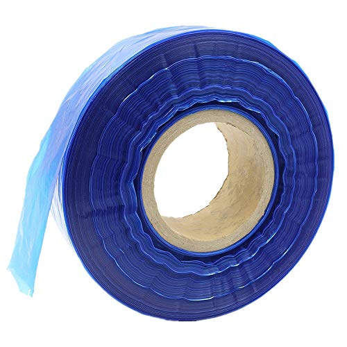 Tattoo Clip Cord Covers Roll - Autdor New 250M (820 Ft) Disposable Tattoo Clip Cord Sleeves Bags Covers for Tattoo Supplies,Tattoo Kits,Tattoo Needles,Tattoo Machine Gun Accessories (Blue)