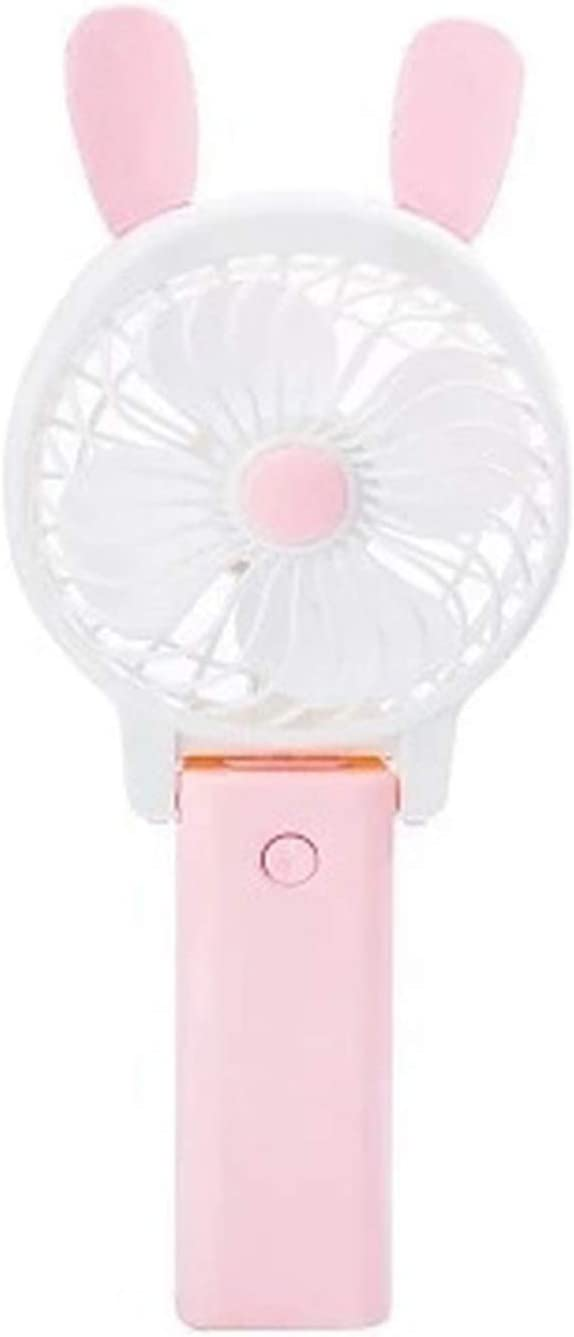Mini Cartoon Hand-Held USB Electric Fan Foldable Student Fan Portable Field Activity Outing Cooling Mini Fan,Burgundy