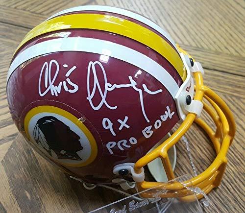 (Crisp Autographed Signed Autograph Redskins Chris Hanburger 9X Pro Bowl Mini Helmet JSA Authentic)